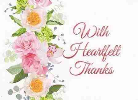 Image result for heartfelt thanks